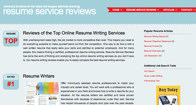 Resume Service Reviews ResumeServiceReviewcom